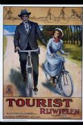 Vintage Dutch cycling advertisment poster - Tourist Rijweilen